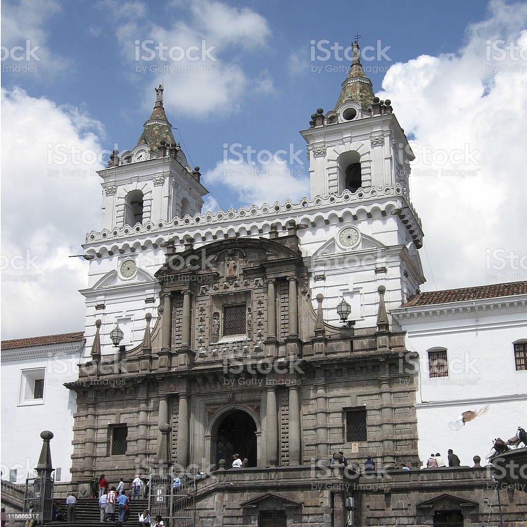 Iglesia de San Francisco, Quito, Ecuador stock photo