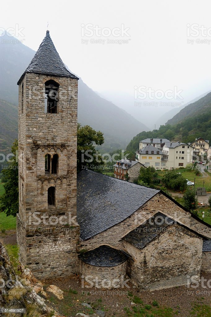 iglesia de Sant Joan, Vall de Boii, LLeida stock photo