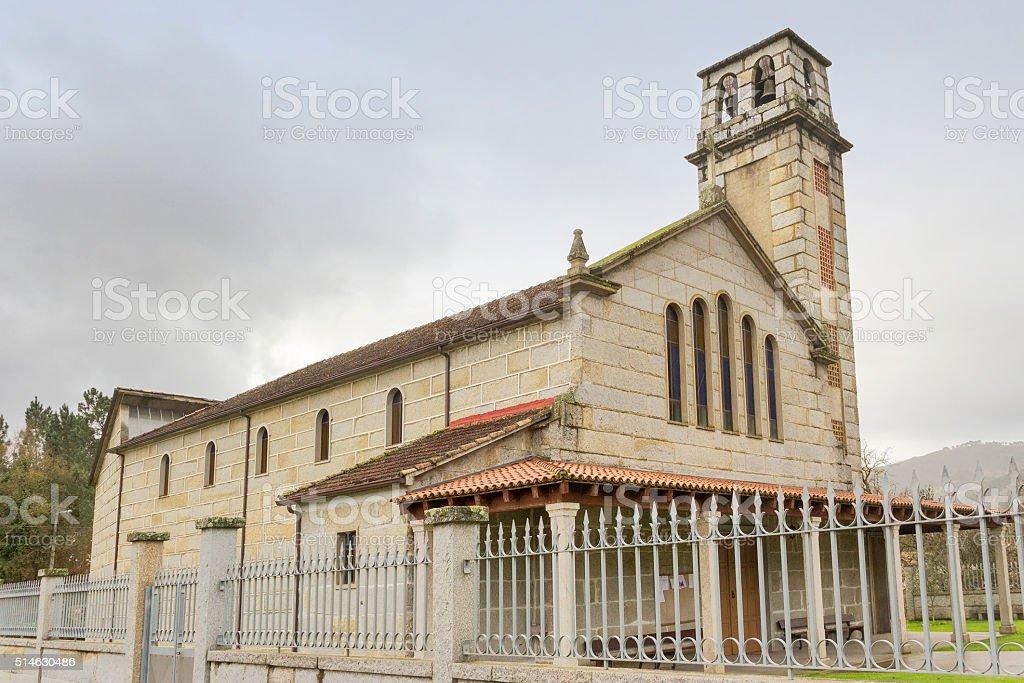 Iglesia de Santa Cruz y Santa María stock photo
