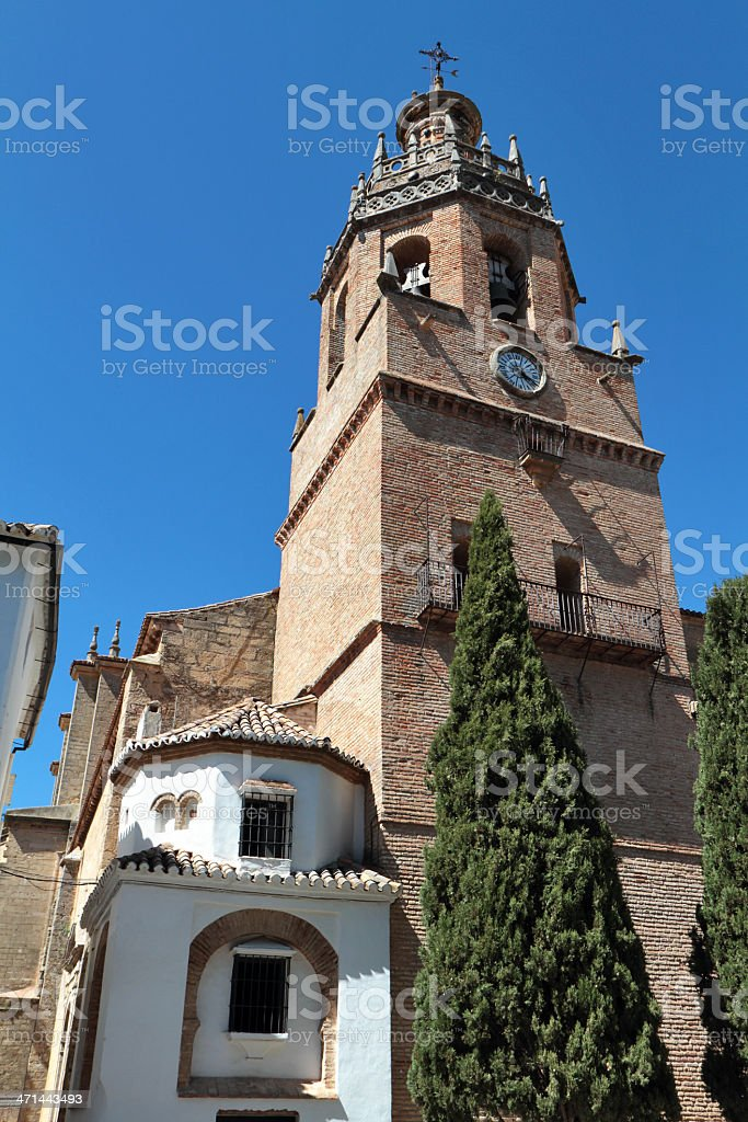 Iglesia De Santa María La Mayor, Ronda, Spain stock photo