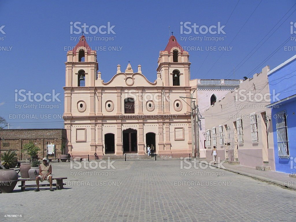 Iglesia Del Carmen Camaguey stock photo