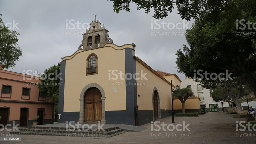 Iglesia Parroquial San Antonio Abad, Arona stock photo