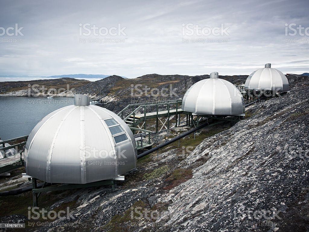 Igloo Arctic West Greenland royalty-free stock photo