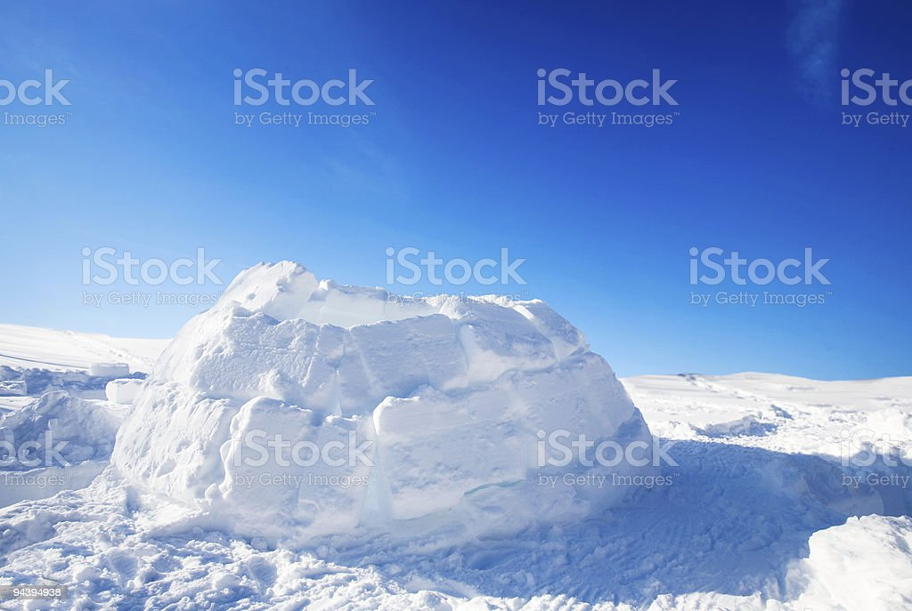 Igloo Building Detail royalty-free stock photo