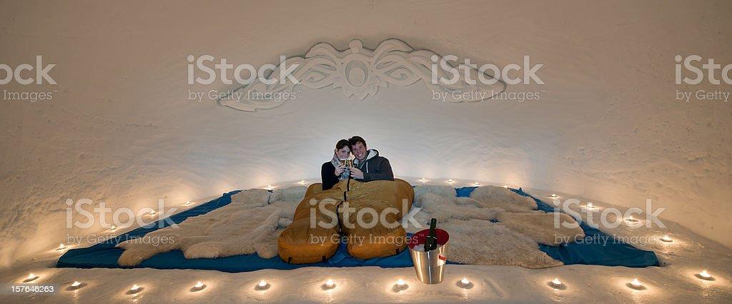 Igloo Honeymoon royalty-free stock photo