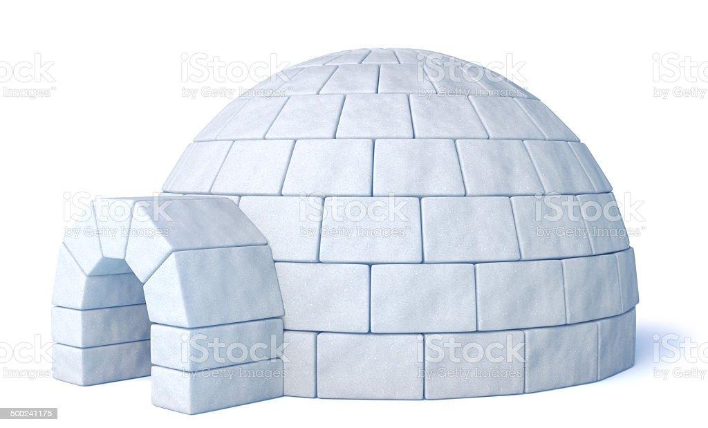 Igloo isolated on white stock photo