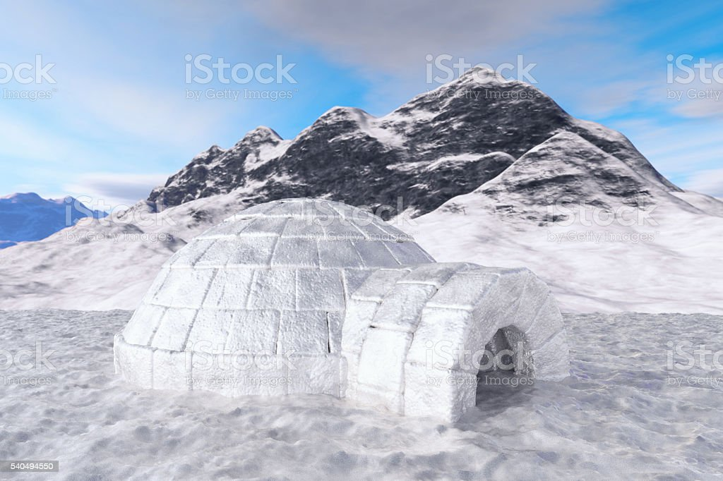 Igloo. Isolated with clipping path. stock photo