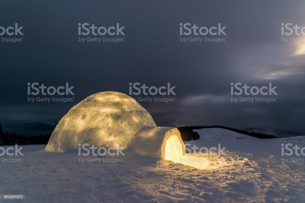 igloo stock photo
