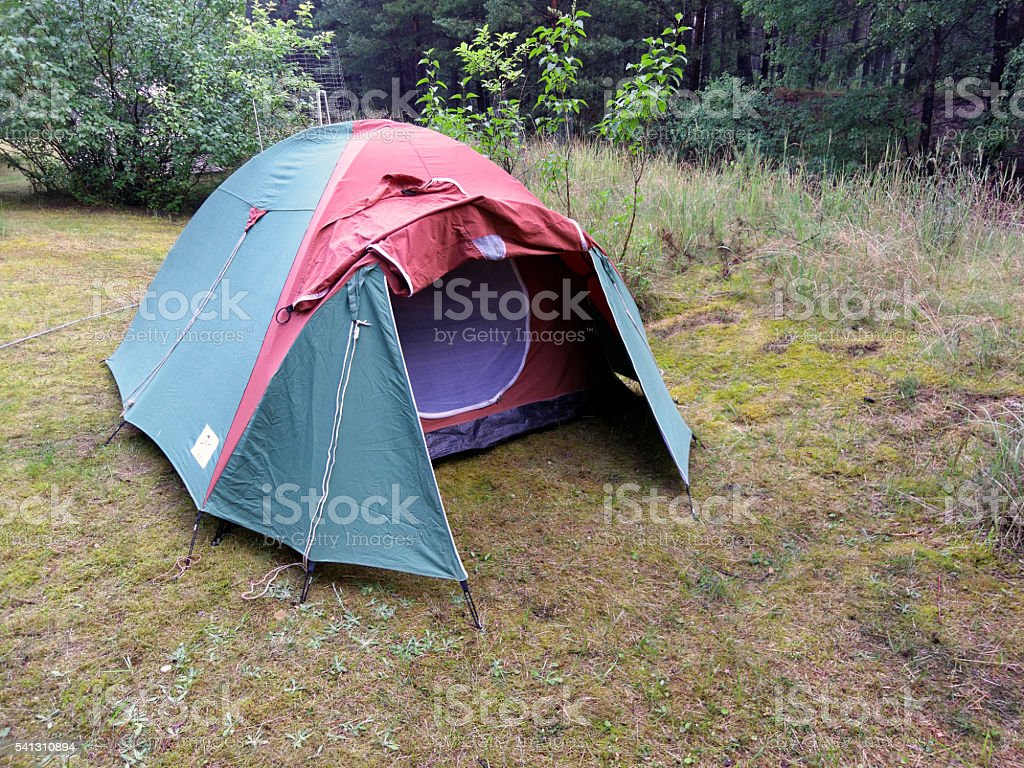 igloo tent - camping site stock photo