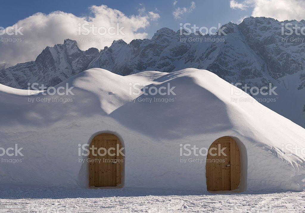 Igloo Village stock photo
