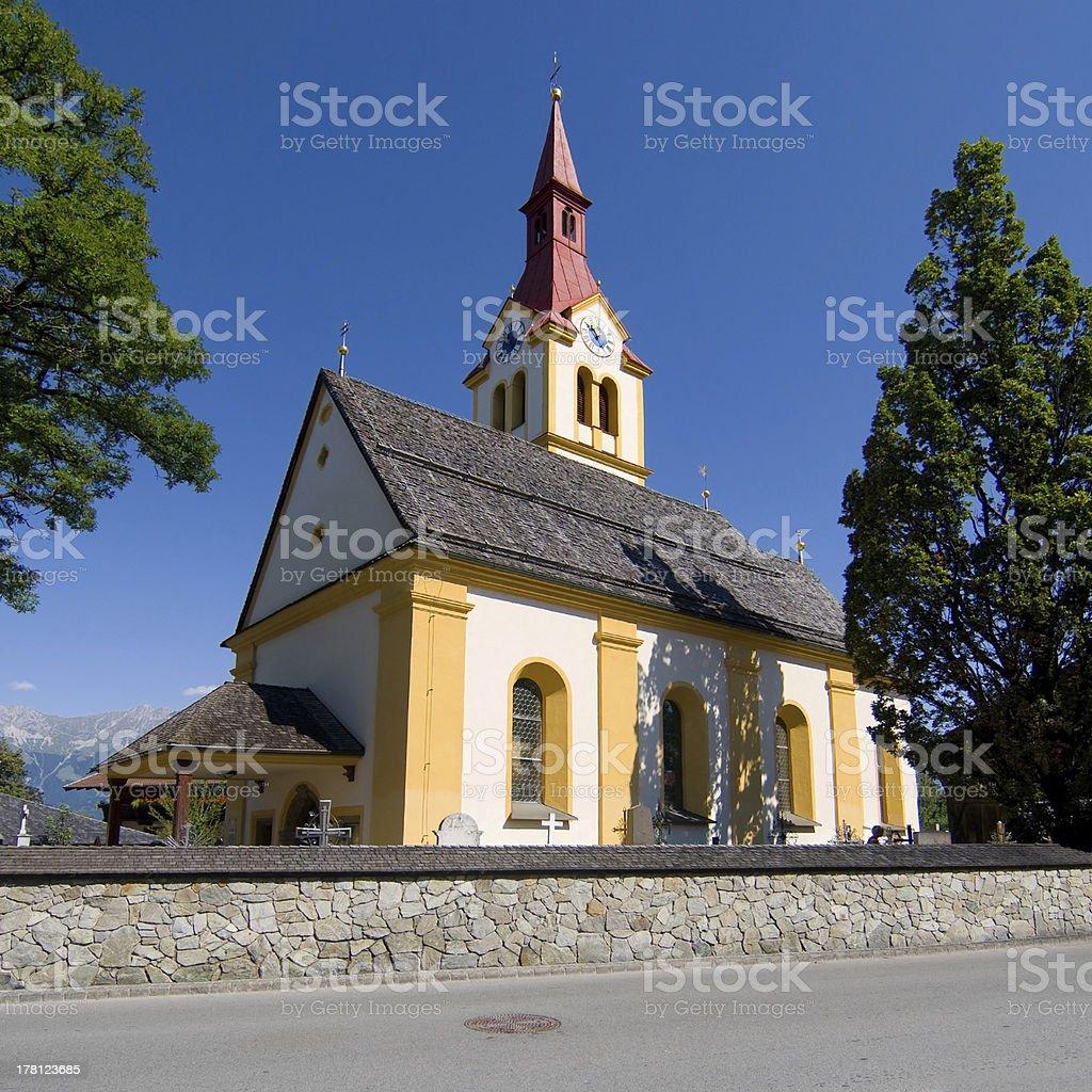 Igls church royalty-free stock photo