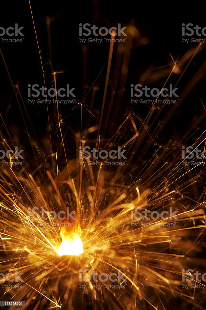 Ignited Sparkler royalty-free stock photo