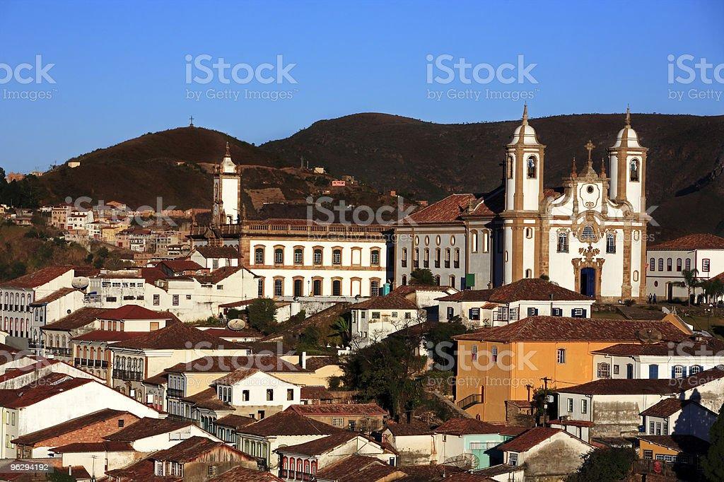 igreja de nossa senhora do carmo church Ouro Preto brasil stock photo
