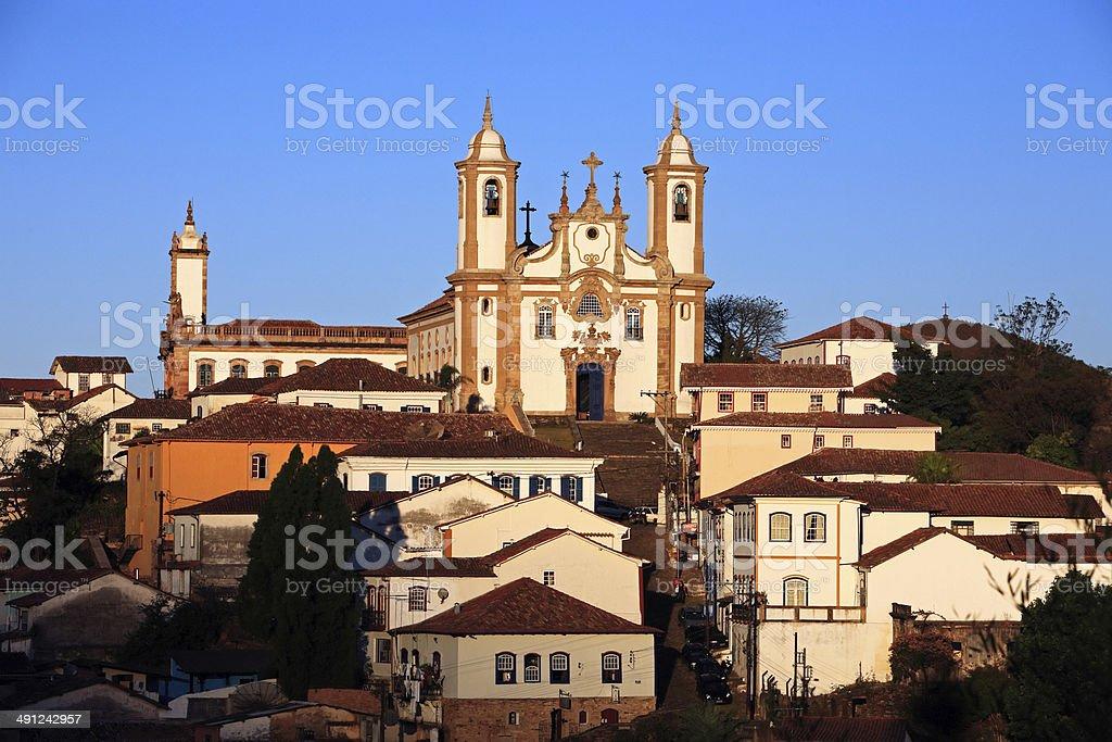 Igreja de Nossa Senhora do Carmo church Ouro Preto Brazil stock photo