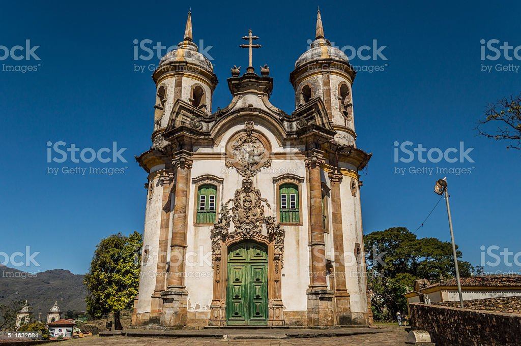 Igreja de São Francisco de Assis - Ouro Preto - Brasil stock photo