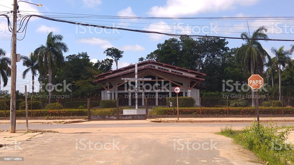 Igreja Matriz de Tailândia, Brasil stock photo