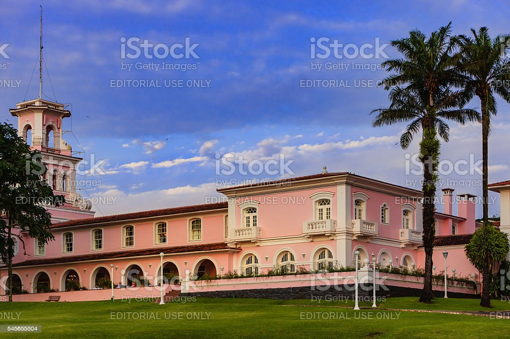 Iguacu, Brazil - Cataratas Hotel at sunset stock photo