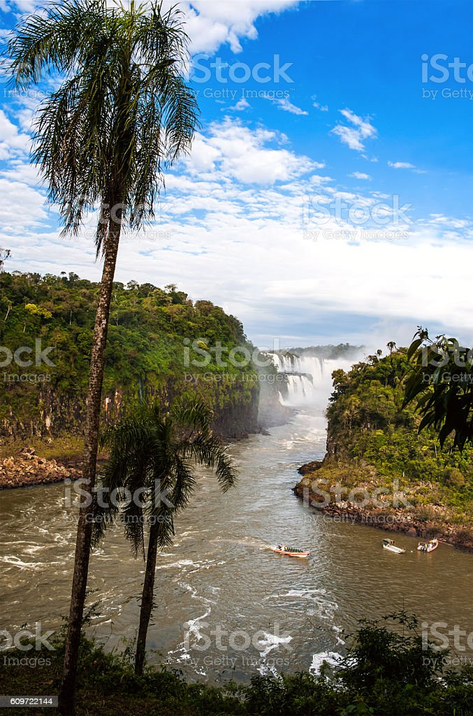 Iguacu Falls from the Argentina side stock photo