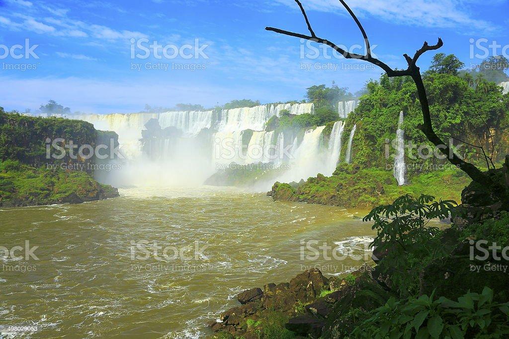 Iguacu falls in Argentina / Brazil rainforest border, South America stock photo