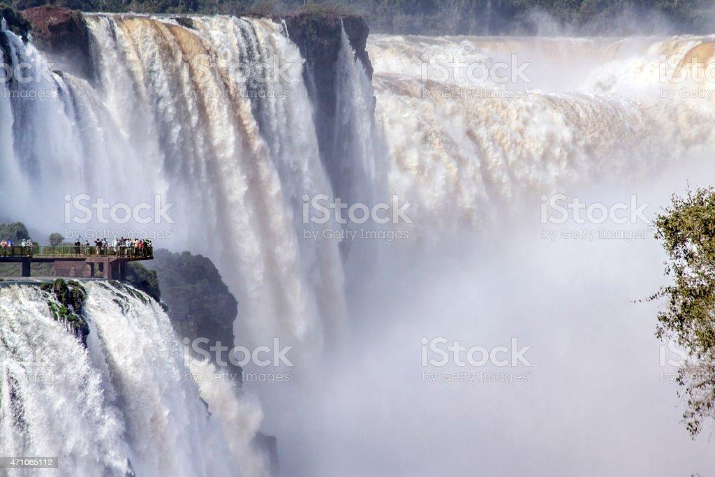 Iguacu, garganta del diablo falls (tele) stock photo
