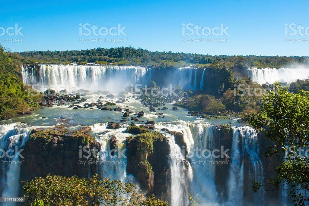 Iguacu Water Falls stock photo