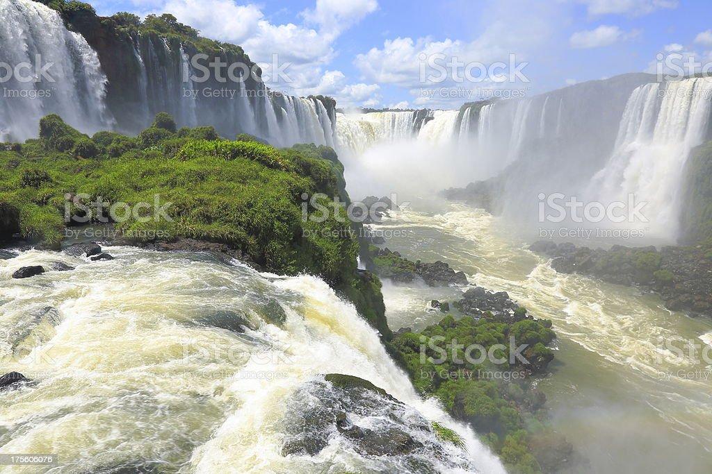 Iguacu waterfalls Devil's Throat - Brazil / Argentina, America royalty-free stock photo