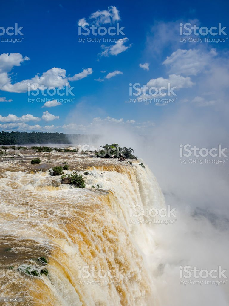 Iguassu Falls, on the Border of Argentina and Brazil stock photo