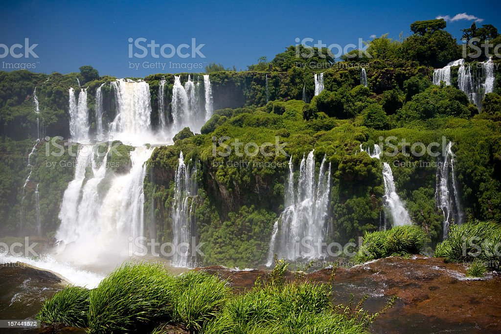 Iguazu cascades and park royalty-free stock photo