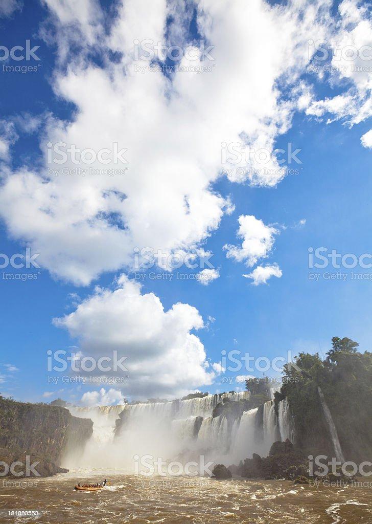 Iguazu falls and boat tour royalty-free stock photo