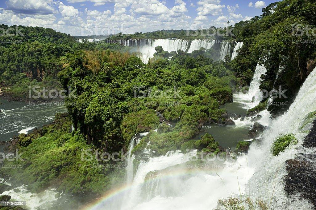 Iguazu Falls and rainforest stock photo