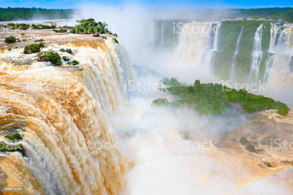 Iguazu Falls Brazil Argentina stock photo
