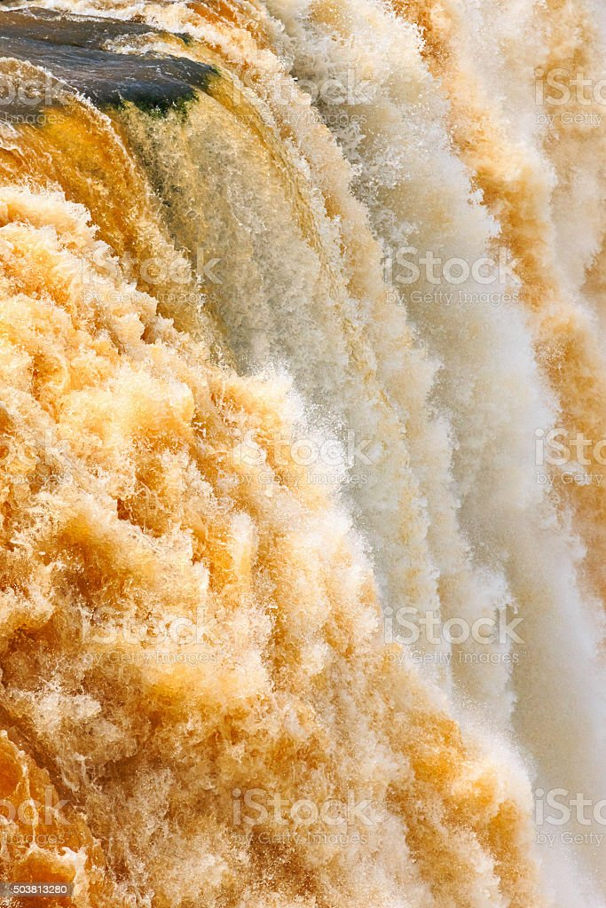 Iguazu Falls Closeup Brazil Argentina stock photo