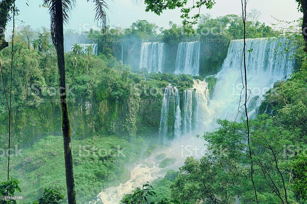 Iguazu falls in Brazil stock photo