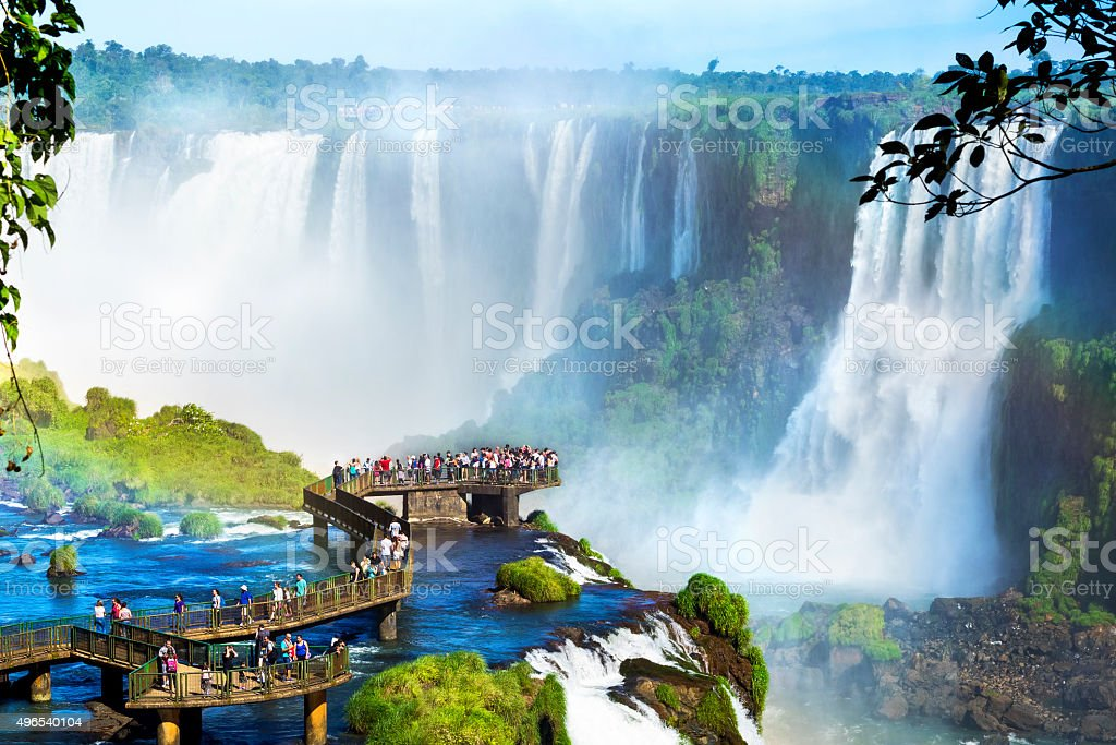 Iguazu Falls, on the border of Argentina and Brazil royalty-free stock photo