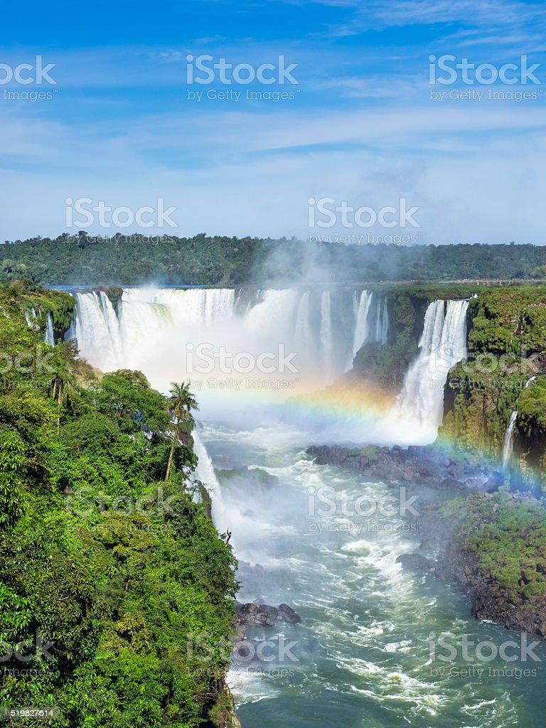 Iguazu Falls, on the Border of Brazil and Argentina stock photo