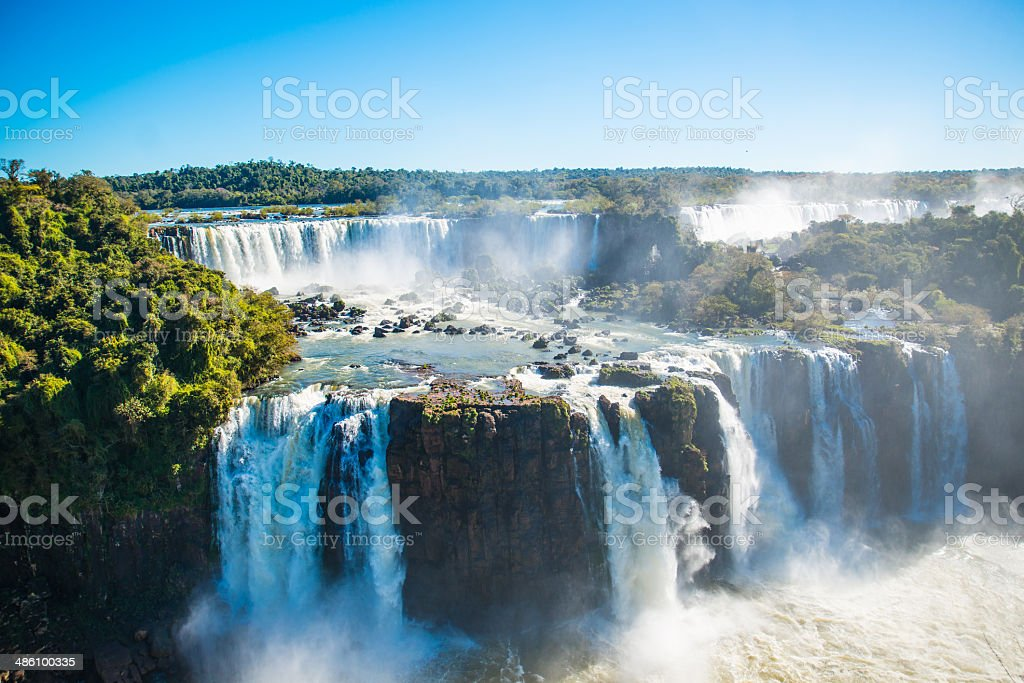 Iguazu Falls or Devils Throat stock photo