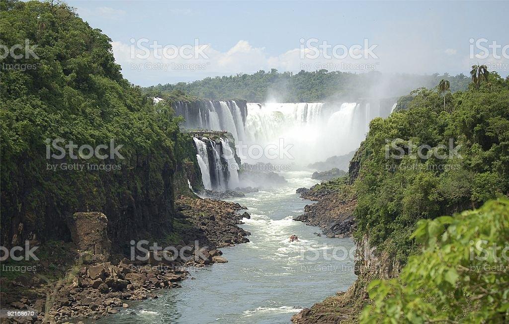 Panoramiczny widok w Iguazu Falls zbiór zdjęć royalty-free
