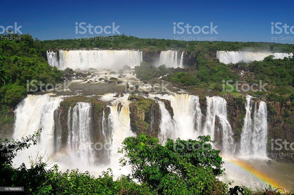 Iguazu Falls Rainbow stock photo