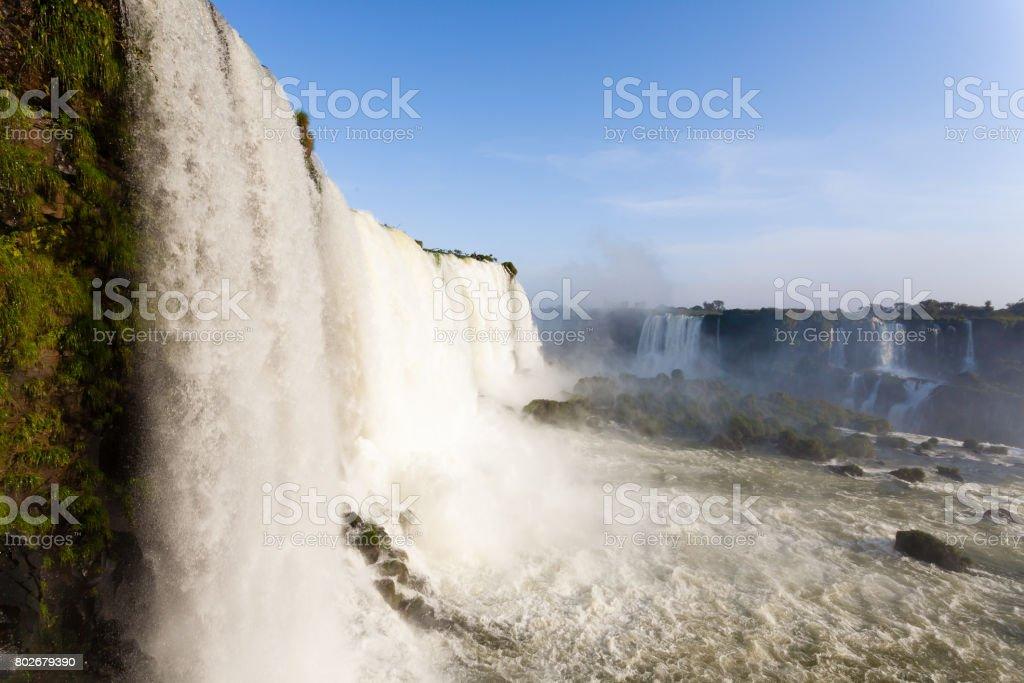 Iguazu falls view, Argentina stock photo
