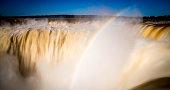 Iguazu Falls Waterfalls in Argentina with rainbow