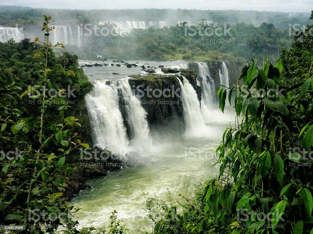 Iguazu Iguacu Falls stock photo