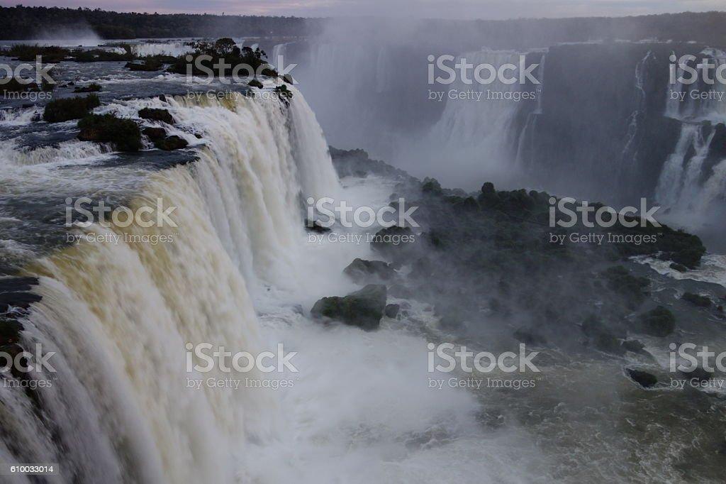 Iguazu magic falls stock photo