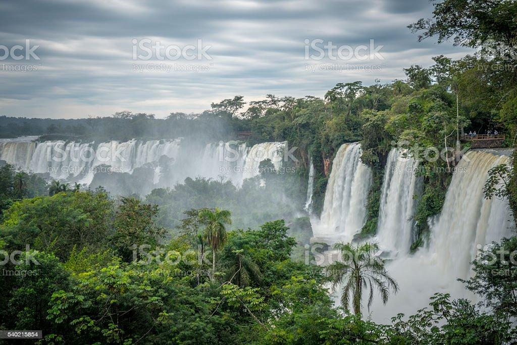 Iguazu Waterfall from Argentina side stock photo