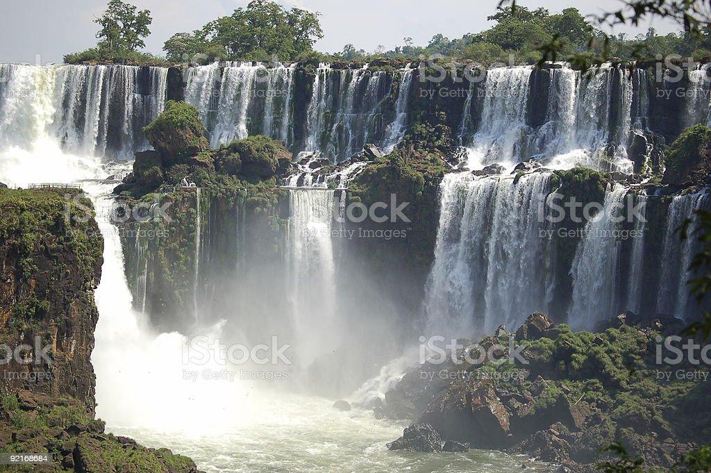 Wodospady w Iguazu Falls, Argentyna zbiór zdjęć royalty-free