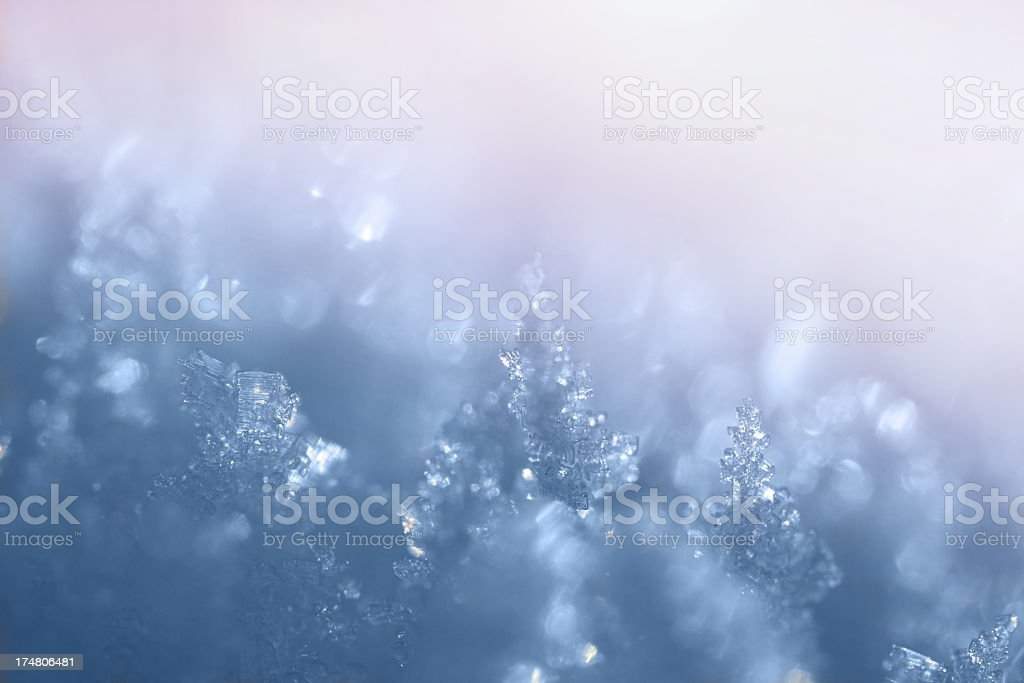 Iice Crystals Close-Up royalty-free stock photo