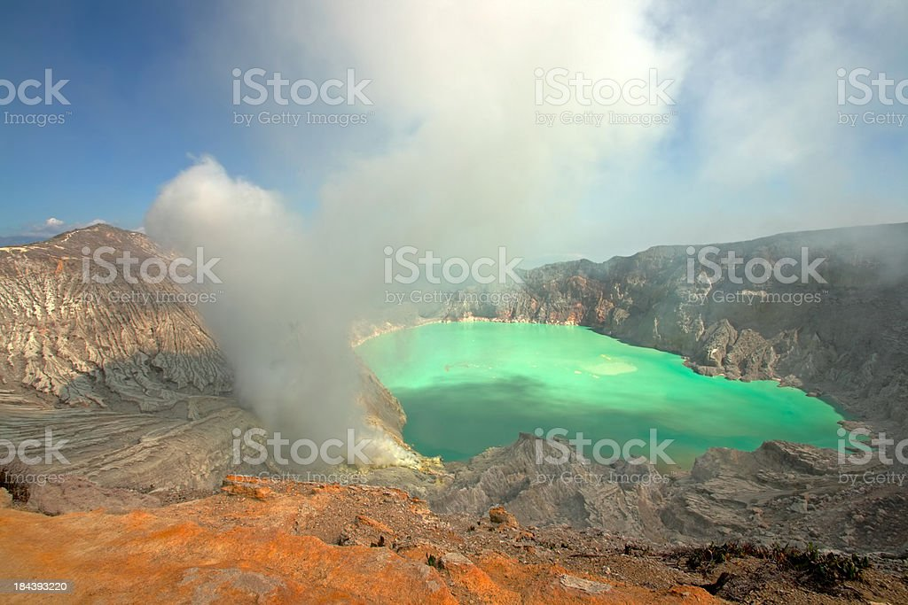 Kawah Ijen crater stock photo