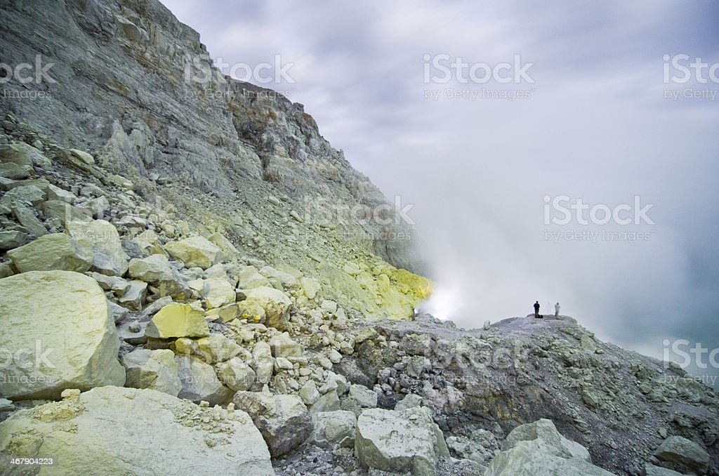 Kawah Ijen Volcano,Java island royalty-free stock photo