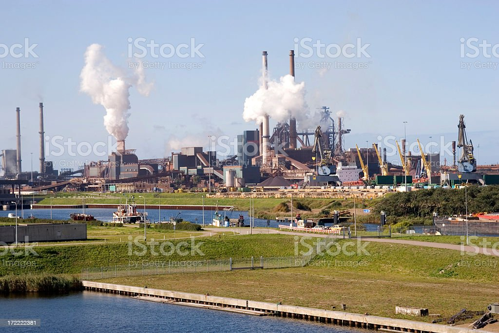 Ijmuiden and the North Sea Canal, Netherlands stock photo