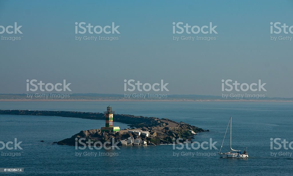 Ijmuiden Lighthouse stock photo