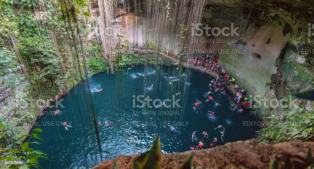 Ik Kil Cenote -Yucatan - Mexico stock photo